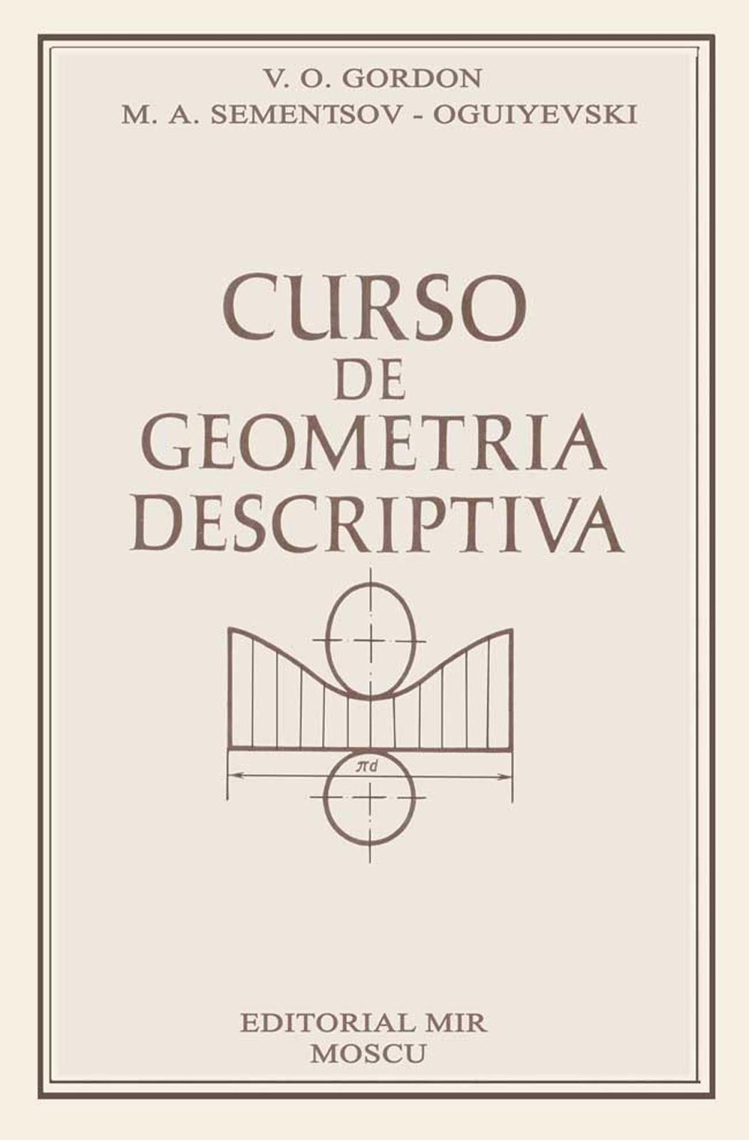 Curso de geometría descriptiva – V. O. Gordon