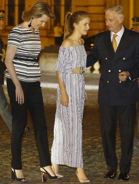 Queen Mathilde, King Philippe, Crown Princess Elisabeth, Princess Astrid and Prince Lorenz of Belgium
