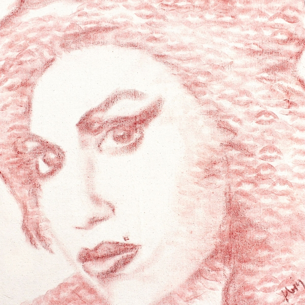 05-Amy-Winehouse-Alexis-Fraser-Portraits-Painted-with-Lipstick-and-Kisses-www-designstack-co