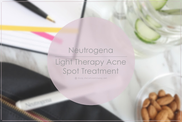 Neutrogena Light Therapy Acne Spot Treatment first impression review. Plus comparison to the Neutrogena Light Therapy Acne Mask.