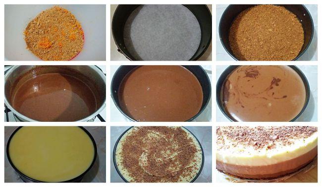 Preparación de la tarta tres chocolates, mi versión sin cuajada