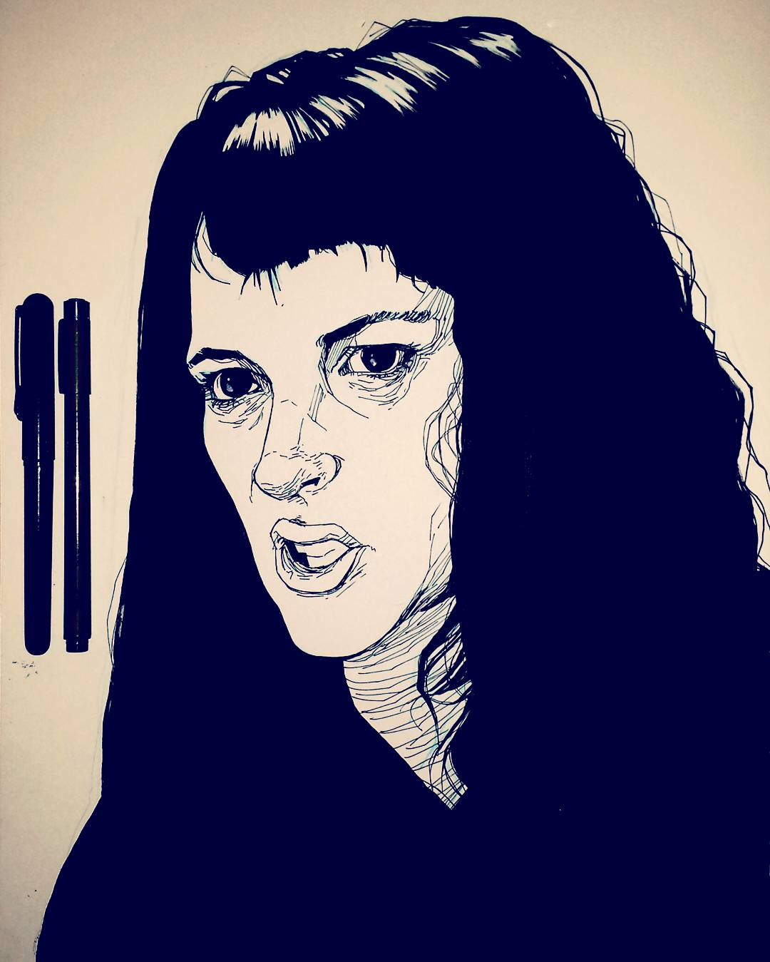 Winona Ryder Beetlejuice Illustration