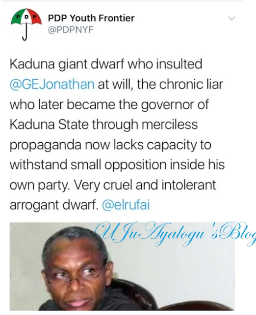 PDP calls El-Rufai 'Kaduna giant dwarf' over demolition of APC secretariat
