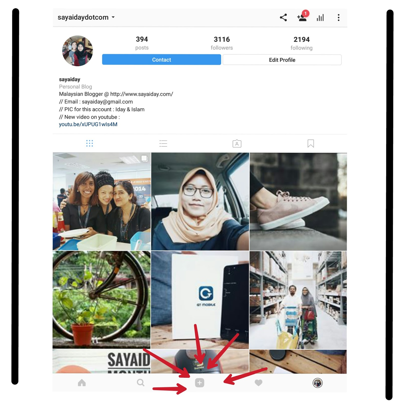 how to send multiple photos in instagram