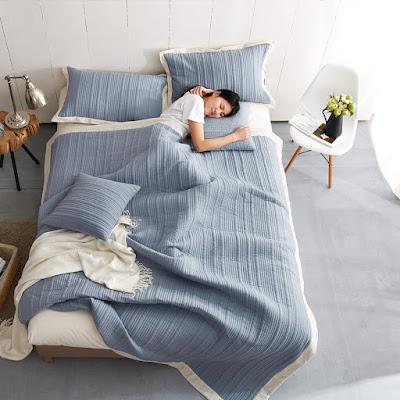 klimasız serinleme, soğuk yastık kılıfı ve yatak örtüsü