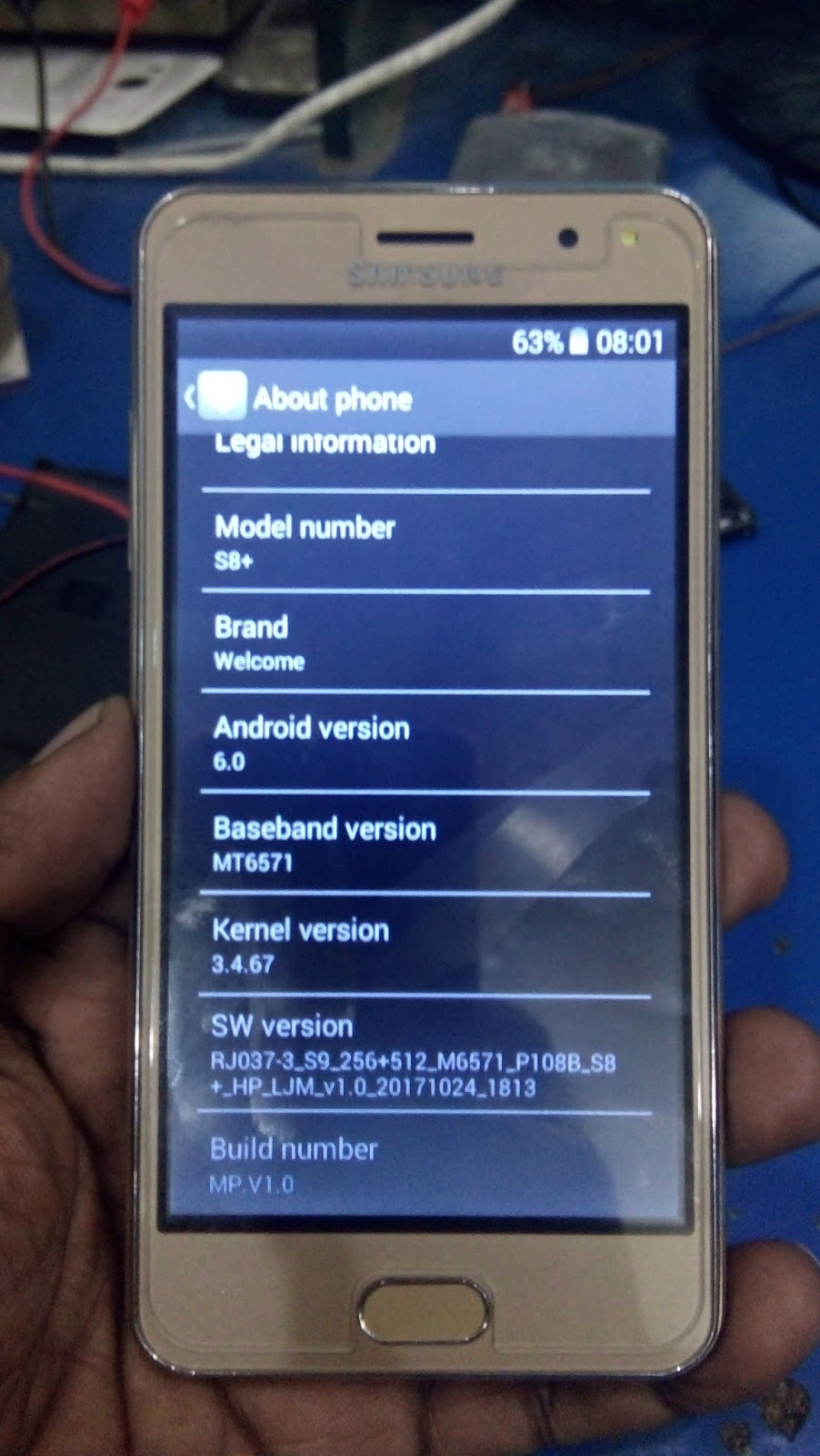 SAMSUNG CLONE S8+ NAND FIRMWARE HANG LOGO DONE 100% TESTED