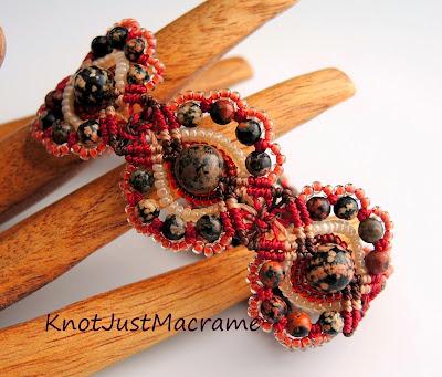 Macrame bracelet by Sherri Stokey.