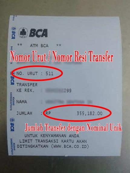 Bukti Transfer Dana Judi Online