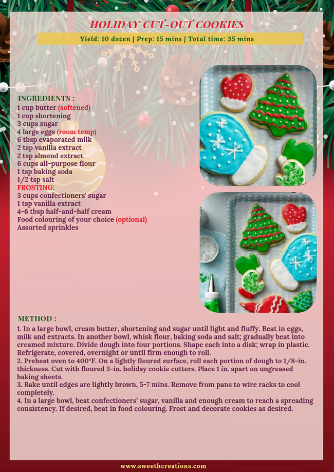 HOLIDAY CUT-OUT COOKIES RECIPE