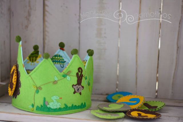 Corona de cumpleaños selva