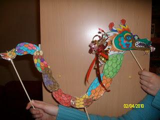 dragon chinois en papier