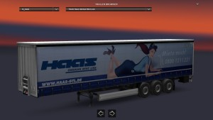 Krone Haas German Rent Line Trailer