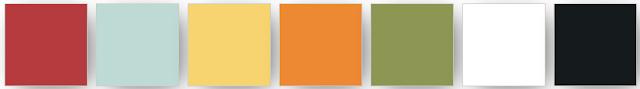 palette de couleurs Stampin' Up! utilisée pour ce projet