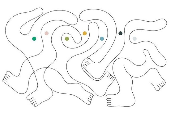 Dibujos con lineas continuas por Jonathan Calugi | imaginativas, imagenes chidas bonitas, creative illustration art drawings, cool stuff.