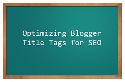 Blogger page title seo