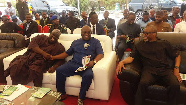 Ikpeazu and Enyinnaya Abaribe at Aba Made trade fair