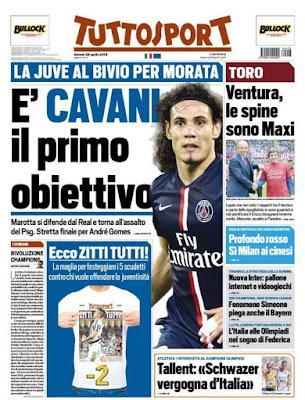 Edinson Cavania en la mira de Juventus