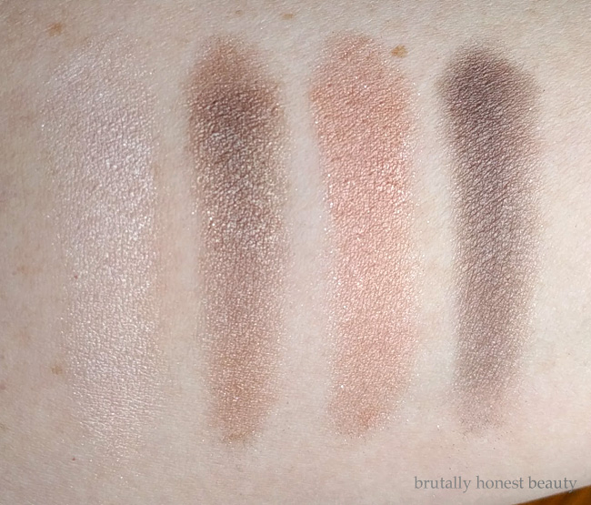 Swatches of L'Oréal Colour Riche Dual Effects Quad in Perpetual Nude