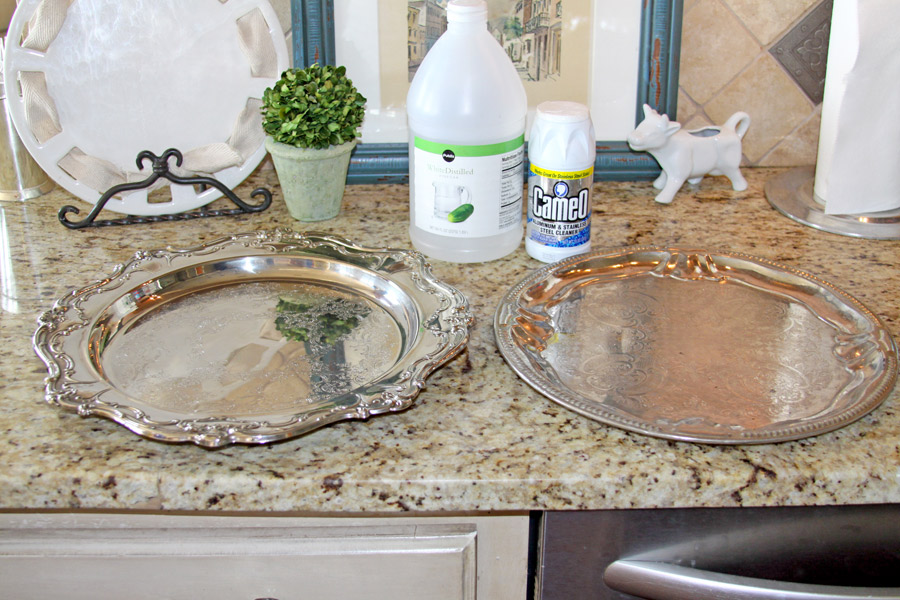 crafty southern mama cleaning cheap silver platters. Black Bedroom Furniture Sets. Home Design Ideas