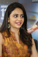 Rakul Preet Singh smiling Beautyin Brown Deep neck Sleeveless Gown at her interview 2.8.17 ~  Exclusive Celebrities Galleries 138.JPG
