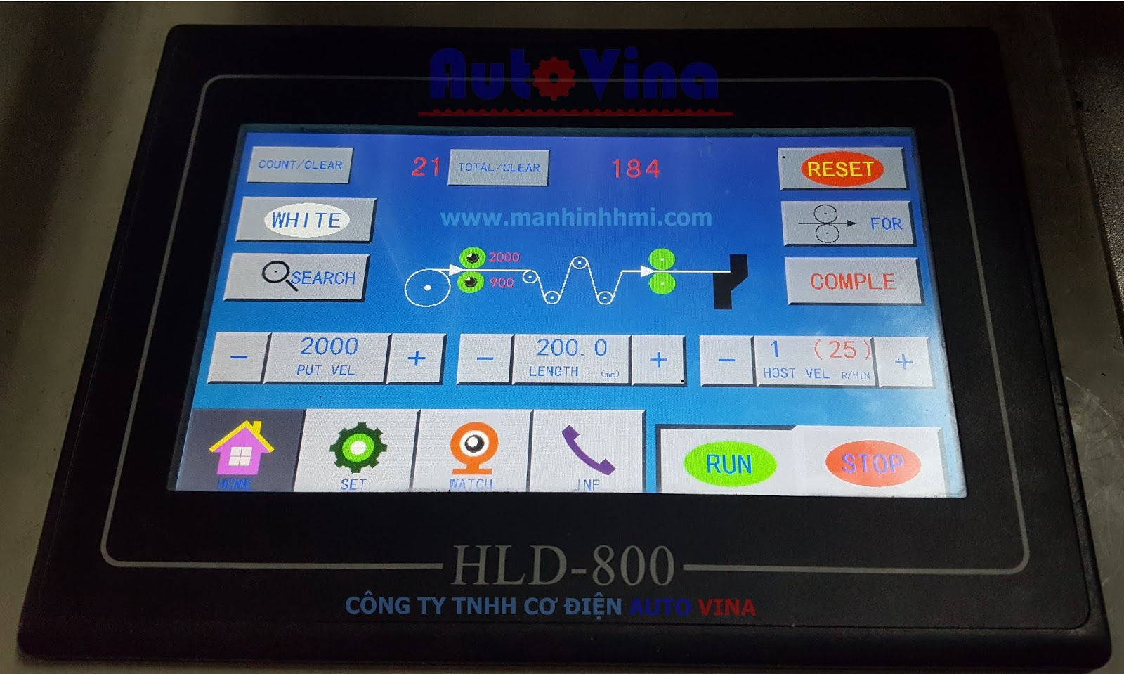Màn hình HLD-800 máy cắt túi Trung Quốc
