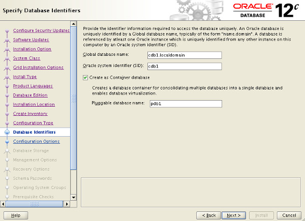 oracle how to create a new database