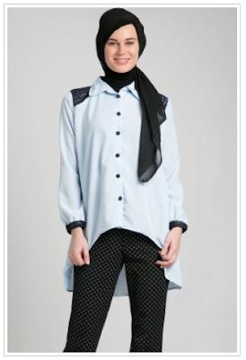 Model Baju Kemeja Kantor Wanita Muslim Modern Terbaru