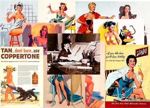 10 obras de Joyce Ballantyne, la ilustradora de pin-ups