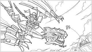 Ausmalbilder Ninjago Drache zum Drucken