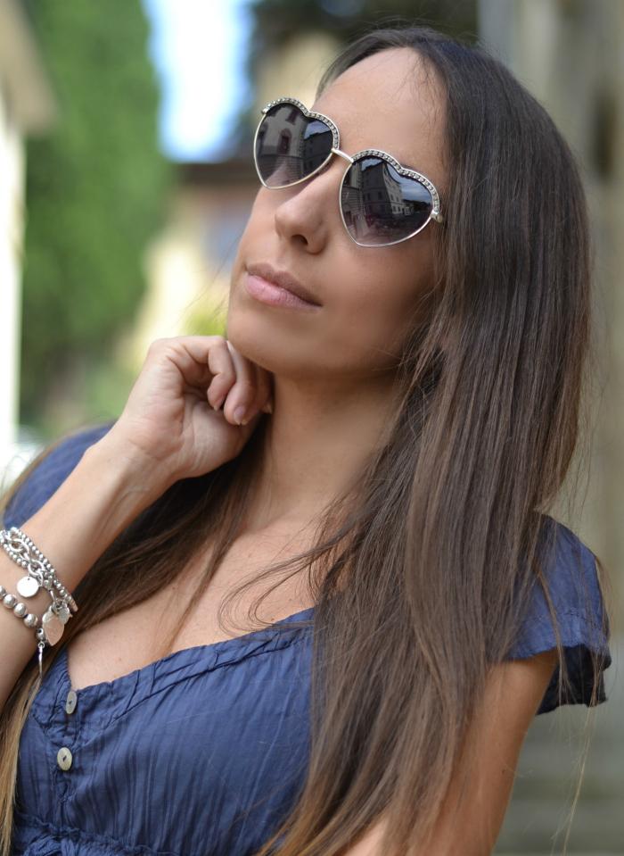 occhiali da sole cuore