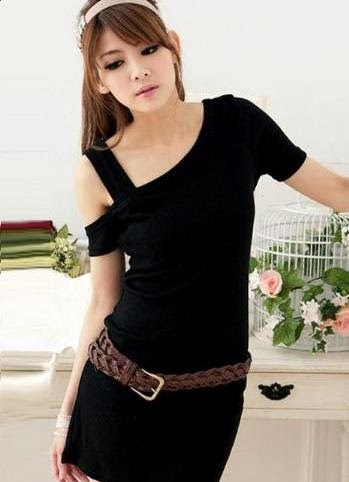 1.Creating Gracious Style With Casual Dress Black
