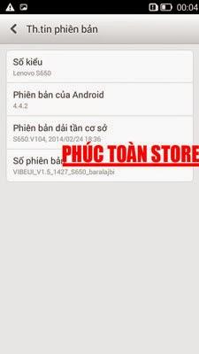 Tiếng Việt Lenovo S650 4.4.2 alt