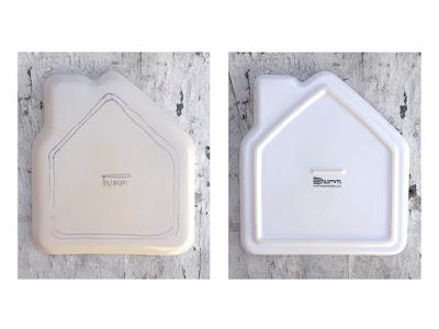 detalles del plato de cerámica infantil para niños de humm modelo casa
