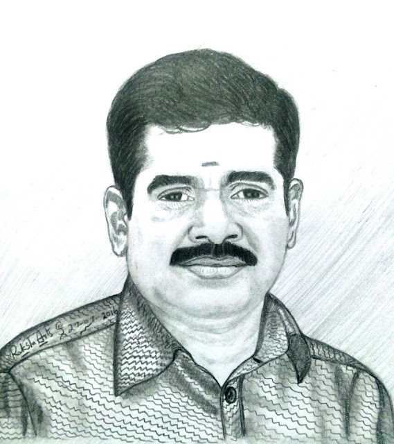 PENCIL DRAWING - J . ELANGOVAN