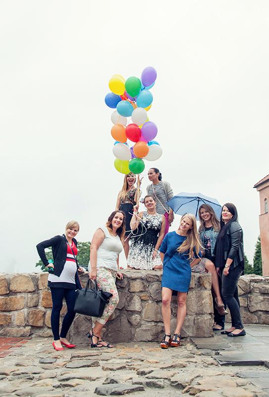 Wieczór panieński, Lublin, Stare Miasto, fotograf, dziewczyny, balony, sesja zdjęciowa