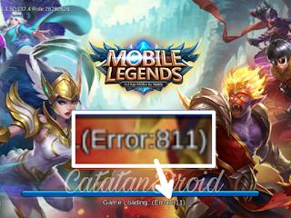 Cara Fix Error 811-812 di Game Mobile Legends Android