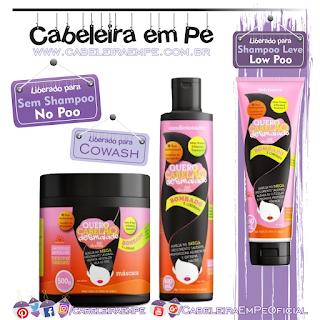 Condicionador (No Poo e Cowash), Máscara (No Poo e Cowash), Defrizante (Low Poo) Quero Cabelão Desmaiado - Grifus