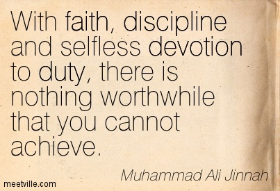 Unity, Faith and Discipline
