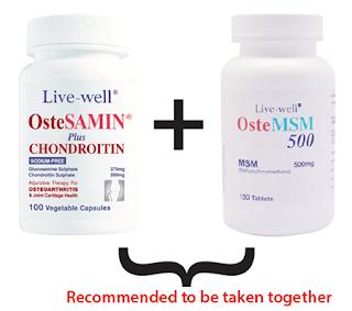 Glucosamine Chodroitin MSM untuk sakit lutut