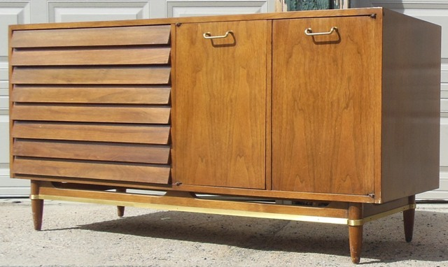 Dania By American Of Martinsville Walnut Dresser Credenza Sold