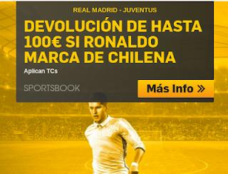 betfair Real Madrid vs Juventus devolucion 100 euros 11 abril