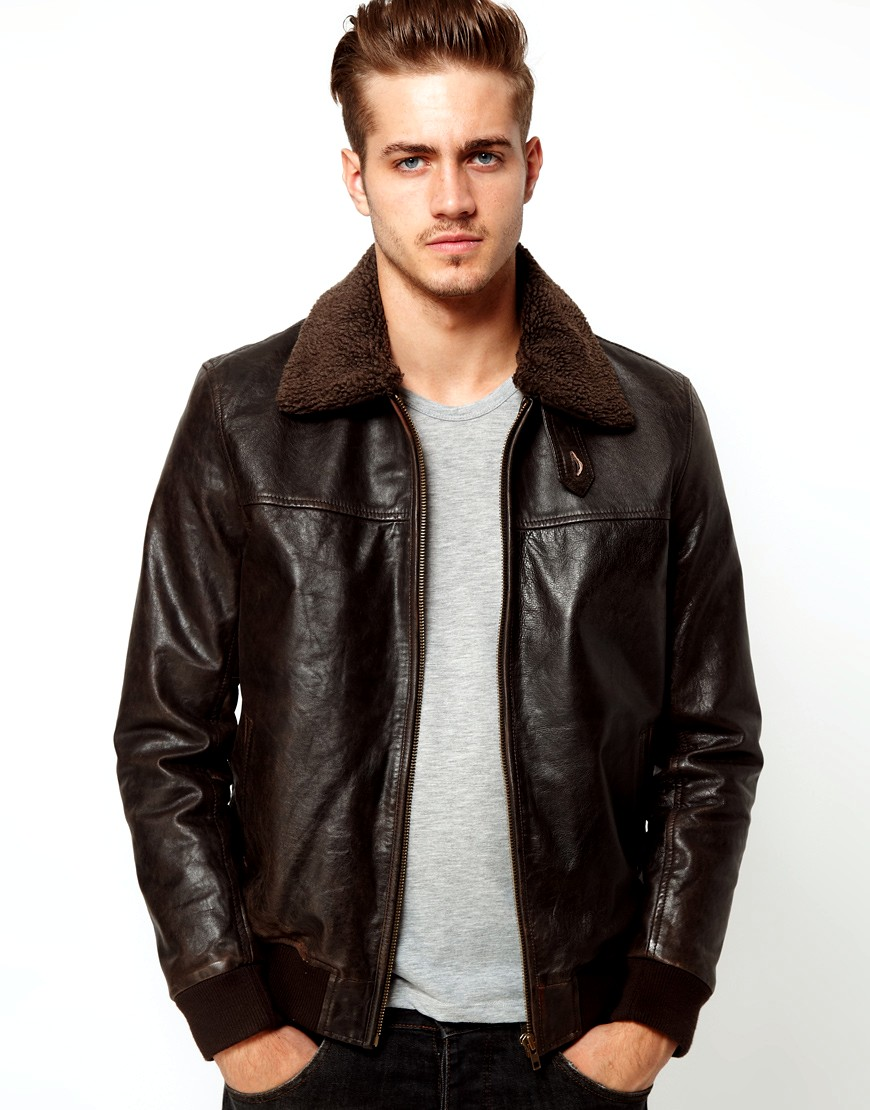 Discover our range of men's leather & suede jackets at ASOS. Shop the latest leather bomber jackets for men in a variety of styles and colors.