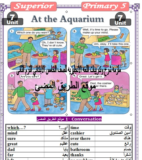 حمل اقوى واحدث ملزمه شرح وتدريبات منهج اللغه الانجليزيه للصف الخامس الابتدائي الترم الثانى .