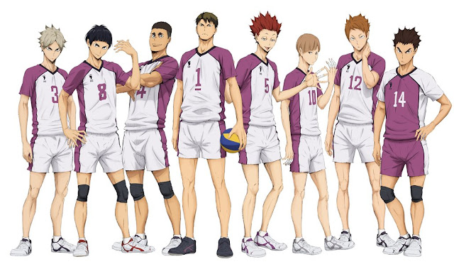 Zespół siatkarski Shiratorizawa, anime Haikyuu!! 3