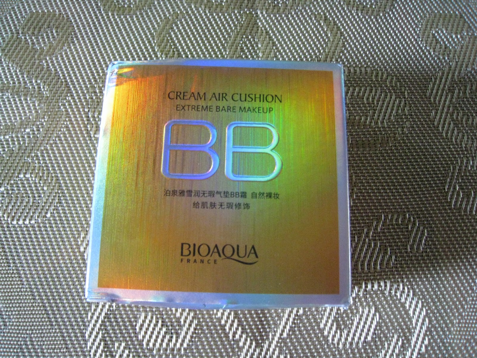 Bioaqua Air Cushion Bb Cream Moisturizing Makeup Review By Elgr Nail Natural Colour 01 Box Orange 15g Which Is An Average Size Its Weight 95g Really Light Compared To Some Other Ones That I Have