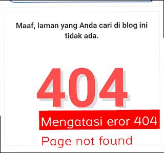 mengatasi eror 404 page not found