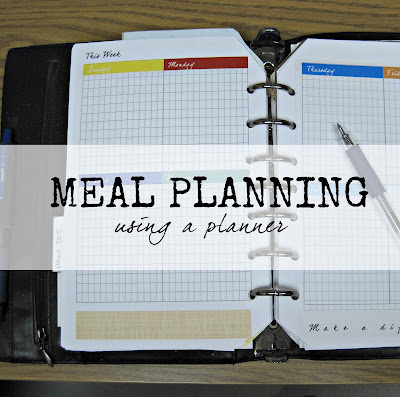 Meal and Menu Planning: Make your planner work for you- some tips to help you get the most out of your planner