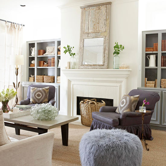Room Decor Furniture Interior Design Idea Neutral Room: 2013 Neutral Living Room Decorating Ideas From BHG