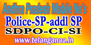 East Godavari District Police Officers Mobile Numbers AP State