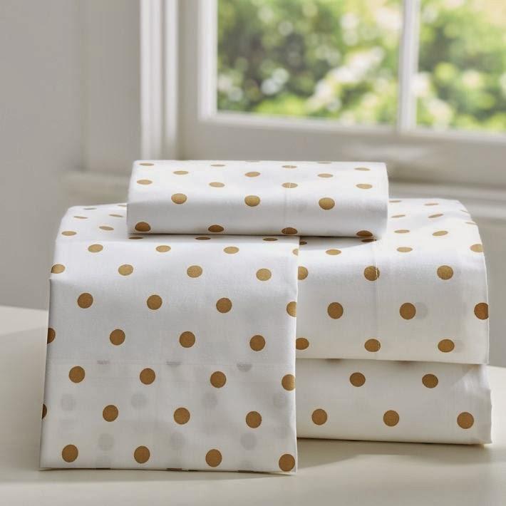 Comforters Polka White Gold Dot